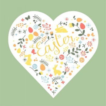 Serwetki Wielkanocne serce